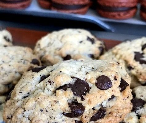 chocolate hazelnut chip cookies