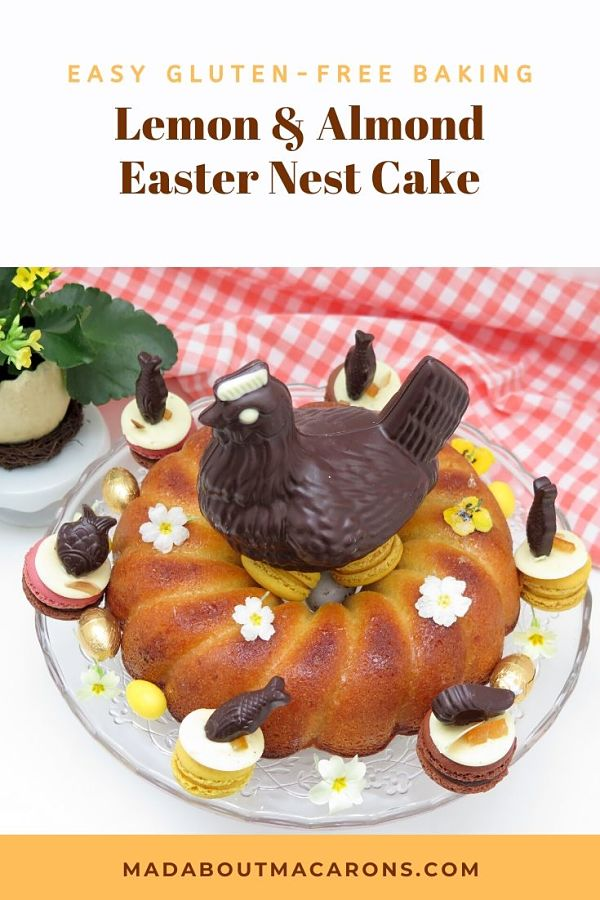 Lemon Almond Easter Nest Cake