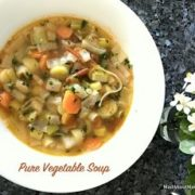 pure vegetable soup