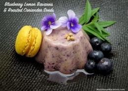 Blueberry lemon bavarois dessert