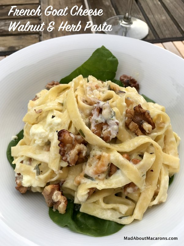 French Goat Cheese Walnut Herb Pasta