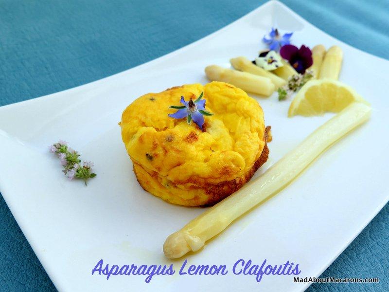 Lemon Asparagus Clafoutis