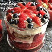 Macaron Berry Sherry Trifle