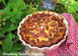 Strawberry Pistachio Clafoutis