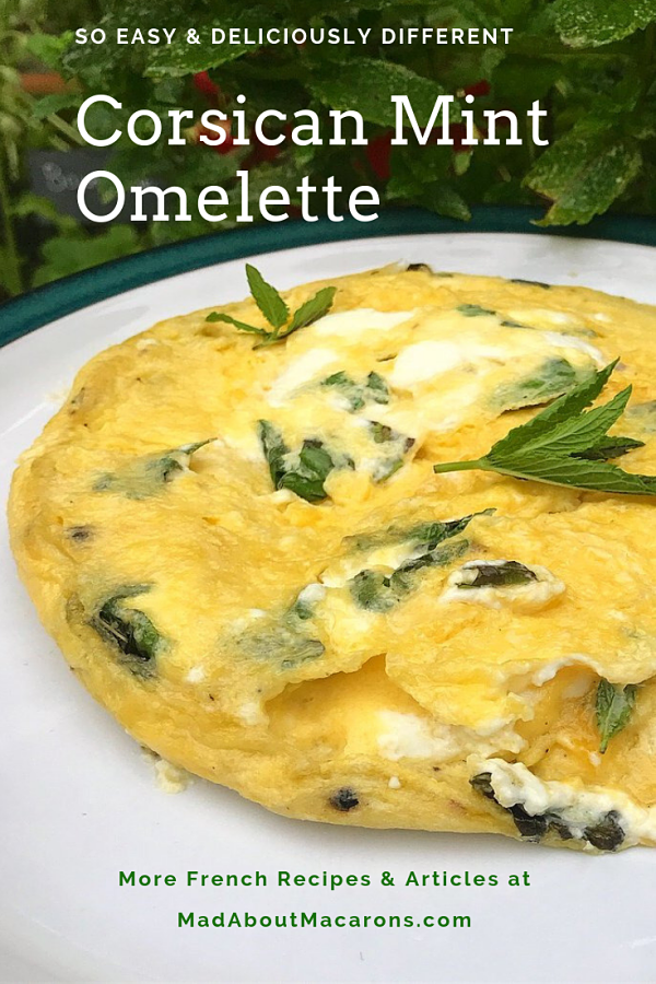 Corsican French mint omelette