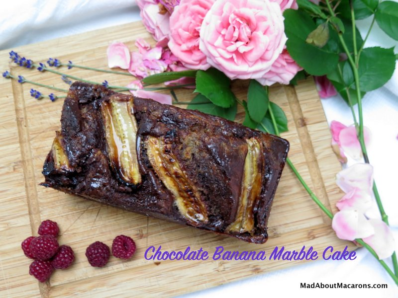 Chocolate Banana Marble Cake