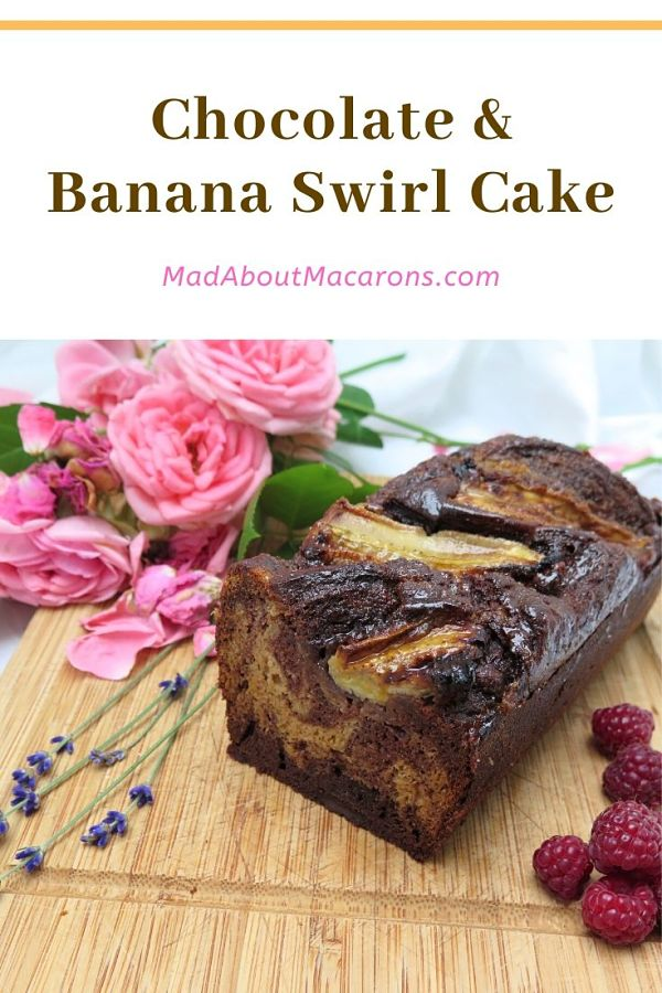 Chocolate Banana Swirl Cake