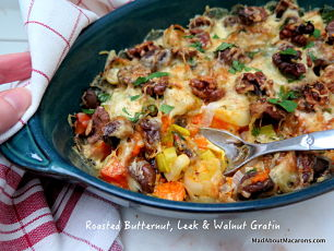 butternut walnut gratin