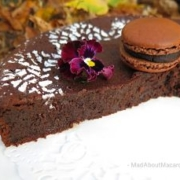 chocolate ginger fondant cake