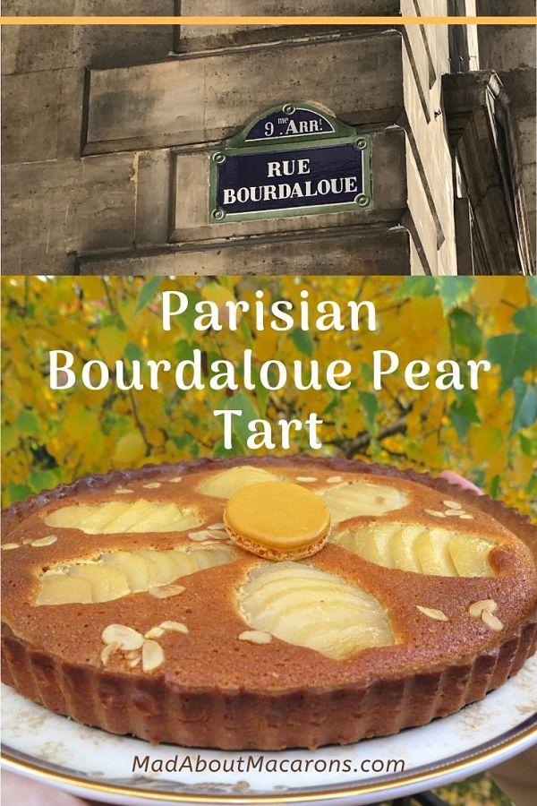 Parisian Bourdaloue Pear Tart