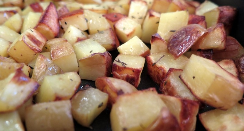 healthy roast potatoes thyme