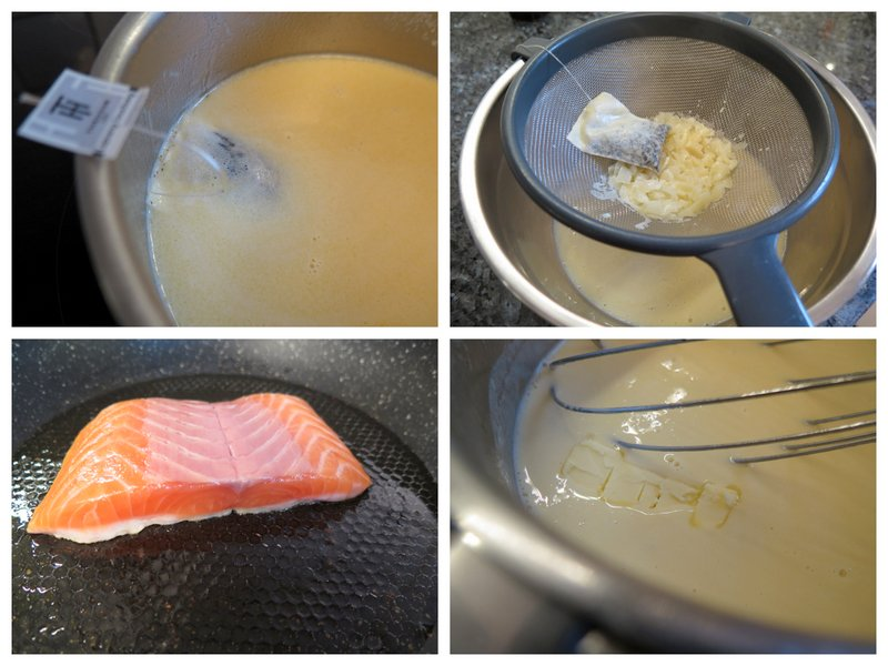 smoked tea beurre blanc salmon step by step recipe