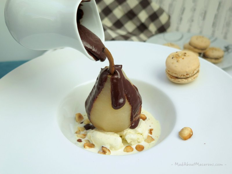 Poire Belle Helene #dessertstory #pears #chocolatedesserts