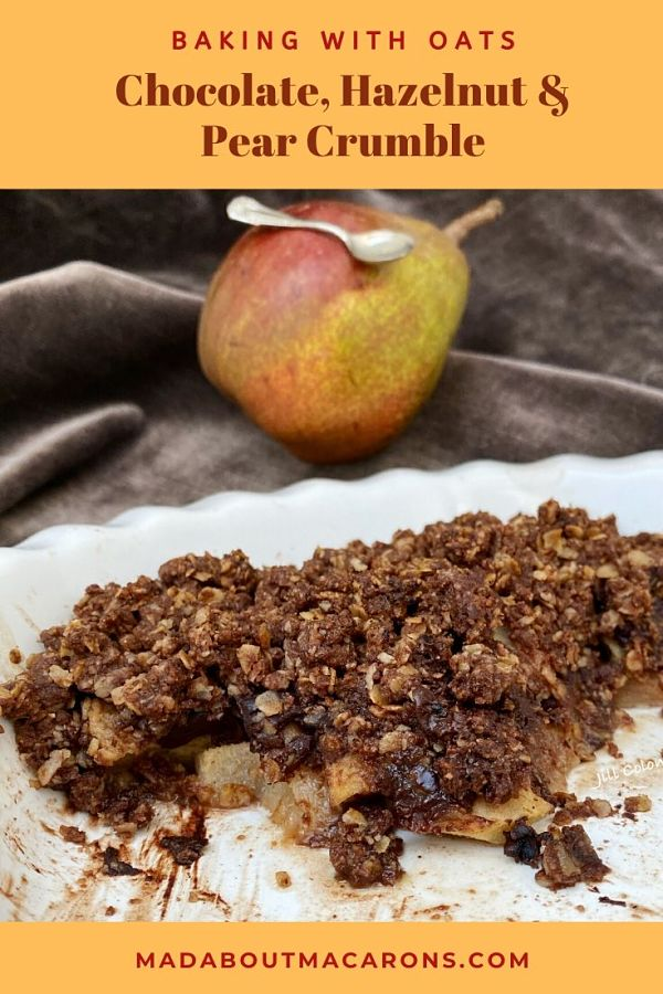 Chocolate Hazelnut Pear Crumble