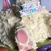 Chocolate Easter Bunny Birthday Cake