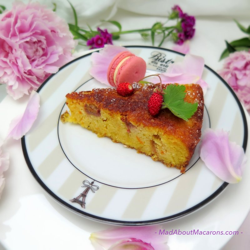 Rose Rhubarb Orange Cake