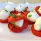 Roasted tomato mozzarella bites