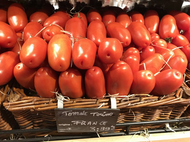 Torino Tomatoes at the French market