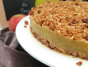 French Apple Crumble Cake