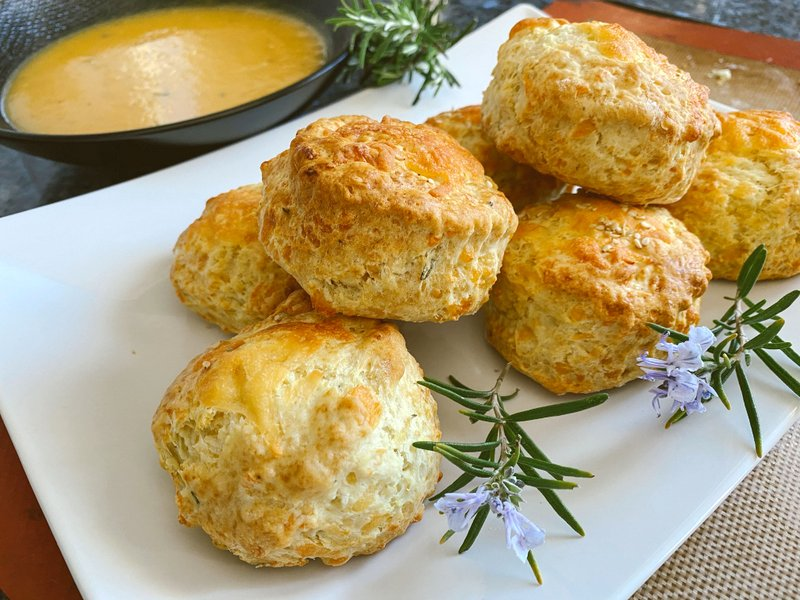 fluffy cheese scones soup