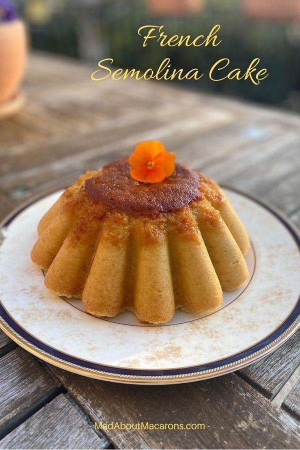 French Semolina Pudding Cake