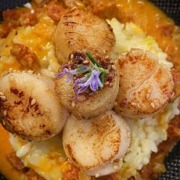 chorizo risotto scallops opt