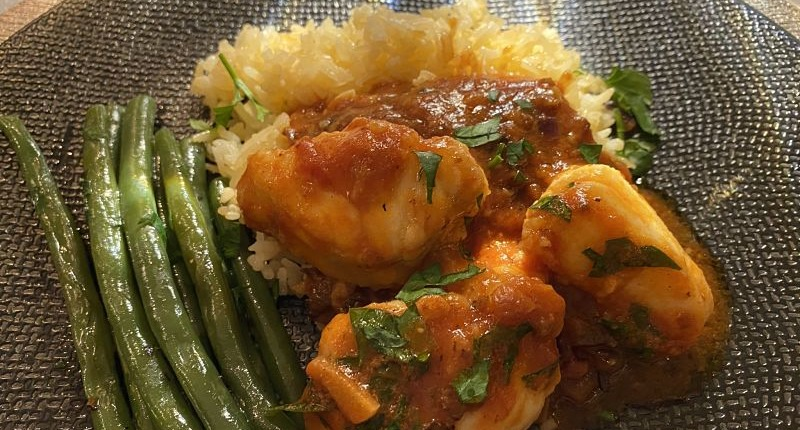 french monkfish stew rice beans
